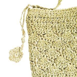 PRIMARK Boho Crochet CrossBody Bag Tan/Beige OS